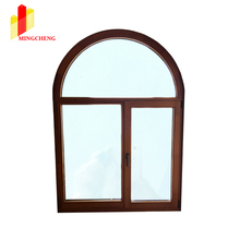 New Design Arch Aluminum Cladding Wood Casement Windows for Residence