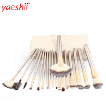 Yaeshii high quality professional custom 18 brochas maquillaje make up brushes belt new magnet private label set makeup brush
