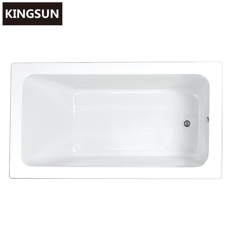 Chinese Bathtub White Color Drop-in Soaker Tub Build in Spa