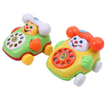 ICTI certificated custom made Baby Toys Music Cartoon Phone Educational Developmental Kids Toy Gifts