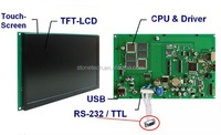 3.5 inch STONE-TECH 320*240 intelligent UART LCD module with capacitive&4 wire resistance touch screen