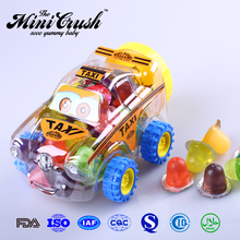 Halal Mixed Fruit jelly pudding candy toys in taxi car jar