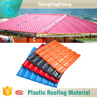 Good Chemical resistance ASA synthetic resin fire resistance asian style roof tiles concrete ridge tiles price