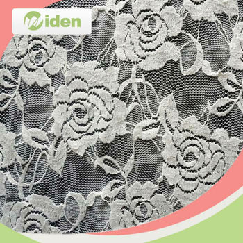 In stock for sale floral figures nylon and spandex stretch mesh lace fabric