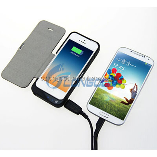 High Capacity 4200mah cell phone cases Backup Power External Battery Charger case for iphone 5S 5