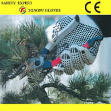 PVC Fall-arrest Polyamide With PVC Dots On Palm Safety Gloves Dotted Factory Work Cotton Gloves Glove