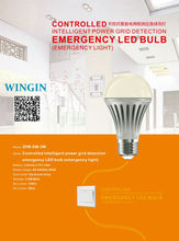 Intelligent power grid detection rechargeale LED emergency bulb (Controlled Version): Model ZHB-EM-3W