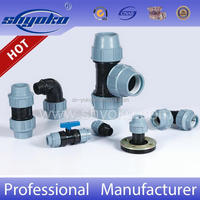 Chinese Factory plastic fittings pp compression fittings for irrigation pipe hdpe pipe fitting