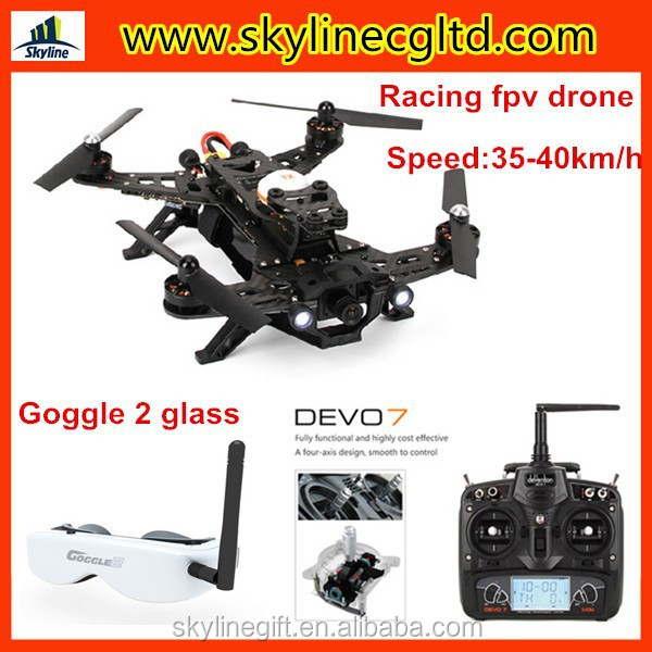 New arrival racing fpv drone 250, 250 quadcopter fpv drone with Goggle glass