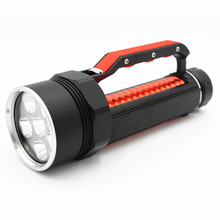 6* XM-L2 deep sea diving flashlight use 26650 battery Flashlight Magnetic Lanterns Light for diving