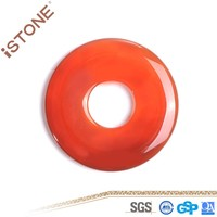 50*6.2 MM Natural Stone Red Agate Donut With Central Hole