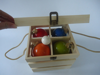 ~NEW~ Bocce Ball Set Lawn Bowls of 9 piece with wooden carry case