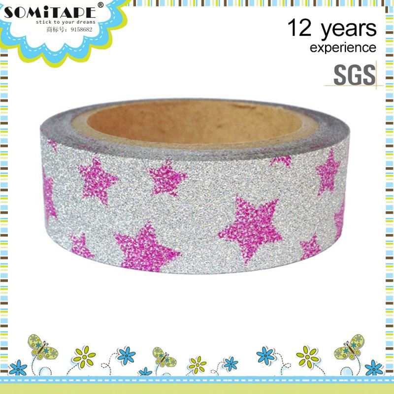 Can Be Repeatedly Paste Writable Glitter Powder Sticker Tapes