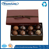 high end design cookie box chocolate box with cardboard inter tray