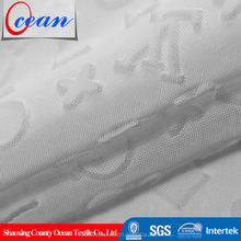 new style fashion ed embossed tricot mesh fabric