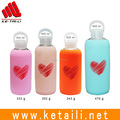 Durable soft silicone sleeve for glass water bottle manufacturer