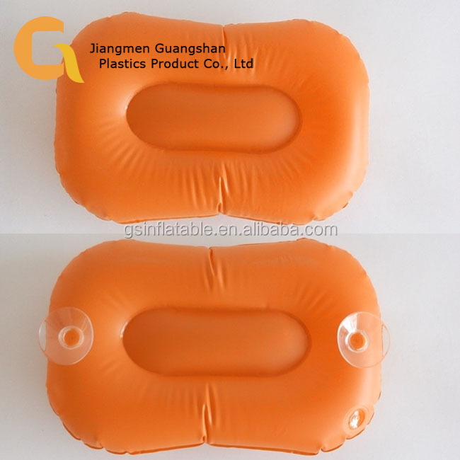 PVC backrest inflatable bath pillow with suction cups