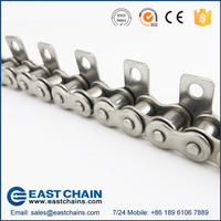 Industry stainless steel roller chain 12A with D3 Attachments