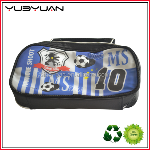 Two zippers cosmetic bag make up bags with mesh pocket