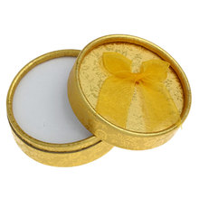 Wholesale Cases Display Round Golden Paper Unique Jewelry Gift Boxes