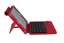 Free sample Removable Wireless Bluetooth Keyboard Deluxe Leather Case for Apple iPad mini