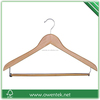 crafted flat wooden coat hangers with locking bar