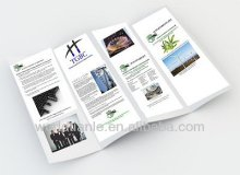 2013 Hot Sales! Different Size full color printing folded Leaflet