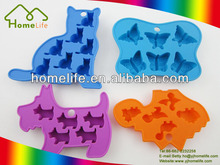 Promotional Unique design colorful animal shaped silicone ice cube tray
