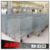 mesh box wire cage metal bin storage container rolling metal storage cage