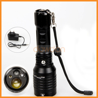 High Beam 100MW Ultra Long Distance Rechargeable 4 Mode 1000LM CREE White LED Green Red Point Laser Flashlight