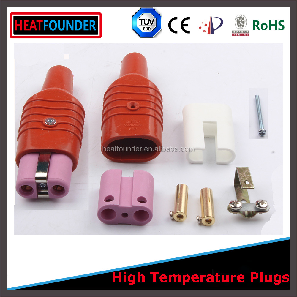 220V-600V 2 pin straight type female OEM Industrial ceramic heater electrical plug