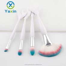 4pcs white handle three colors of the hair brush holder make up brushes makeup brush set
