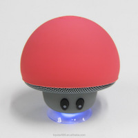 Cute mushroom bluetooth speaker , Fasion mini speaker with sucker , good Promotion gift speaker.