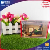 China supplier glass block photo frame acrylic photo block PMMA clear magnetic acrylic photo frame wholesale