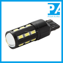 Factory Wholesale Car Autos Tube Bulb Light Lamp LED T20 7440 W21W 7443 W21/5W 5630 18+1SMD With Lens DC12V Or 24V