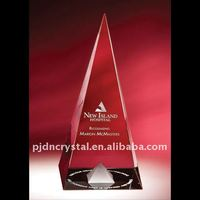 Optical Crystal Dynasty Pyramid Award tower /crystal trophy gift
