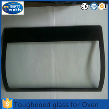 Rectangle shape tempered high resistance sight glass for oven door