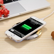 2016 wholesales Table tennies shape Wireless Charging Pad Qi Wireless Charger With USB Port & USB Cable