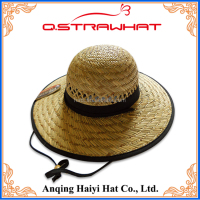 HYSH111 bucket hand weave plain bucket straw hat wholesale