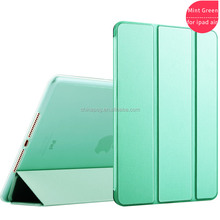 Genuine Real 100% Leather tpu edges cover standing pu leather soft edge tablet cover for Ipad 5/Ipad air
