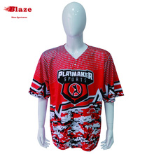 Camo style good quality full sublimation printing short sleeve with full buttons baseball jersey