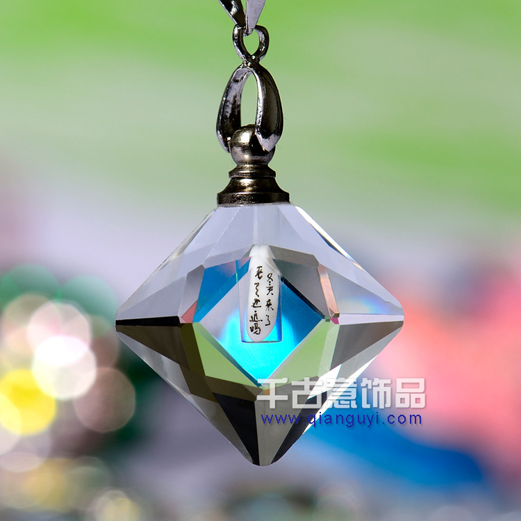 2015 popular crystal perfume bottles crystal perfume bottle <strong>pendant</strong> jewelry <strong>pendant</strong> for couples