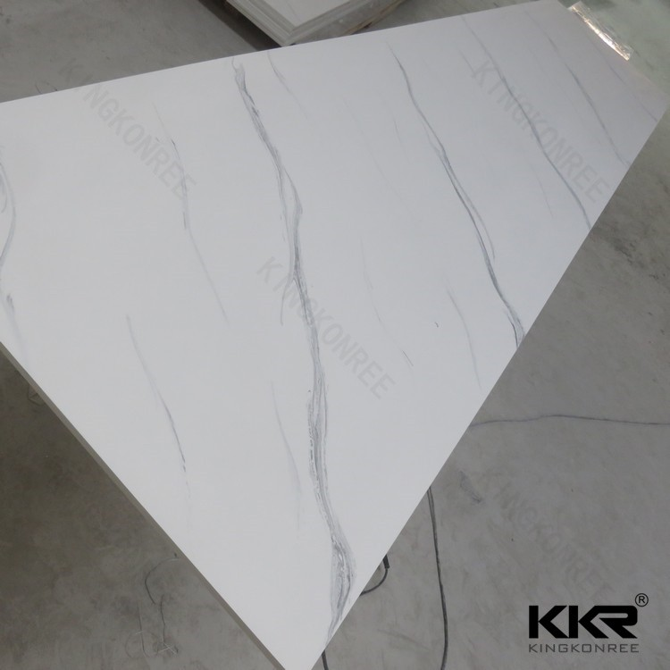 Man Made Marble Stone/Artificial Marble Tile/Composite Solid Surface Marble Tile
