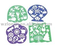 pvc/pp/plastic drawing stencil