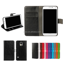 for samsung s5 cover, for samsung galaxy s5 mini wallet cover with cards slots holder