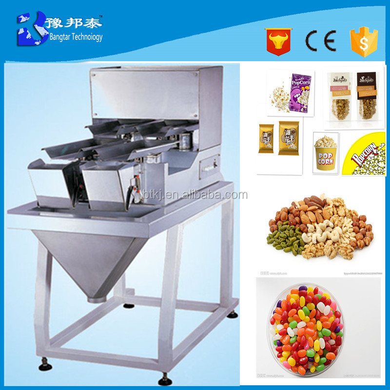 New Automatic Electric Food Seeds Chemical Granule Bag 4 Head Check weigher