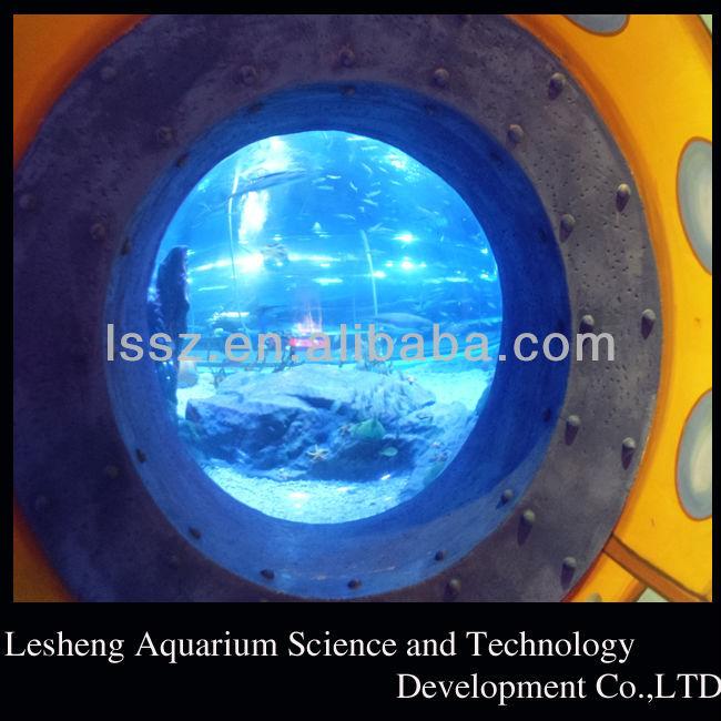 Grand rond acrylique aquarium r servoirs de poissons for Aquarium rond prix