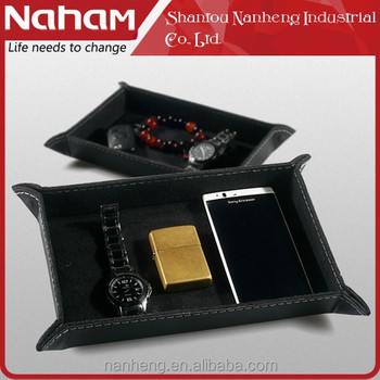 NAHAM Wholesale coin caddy PVC leather storage key tray
