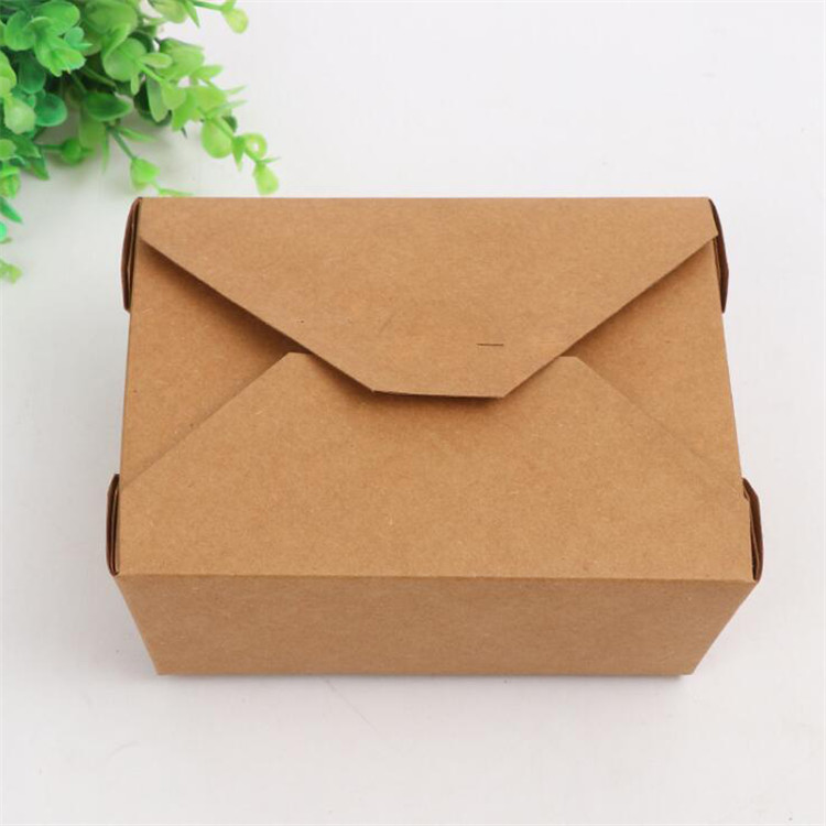 Waterproof material kraft packaging box for salad