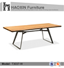 Scandinavian style Dining table with African walnut wooden top